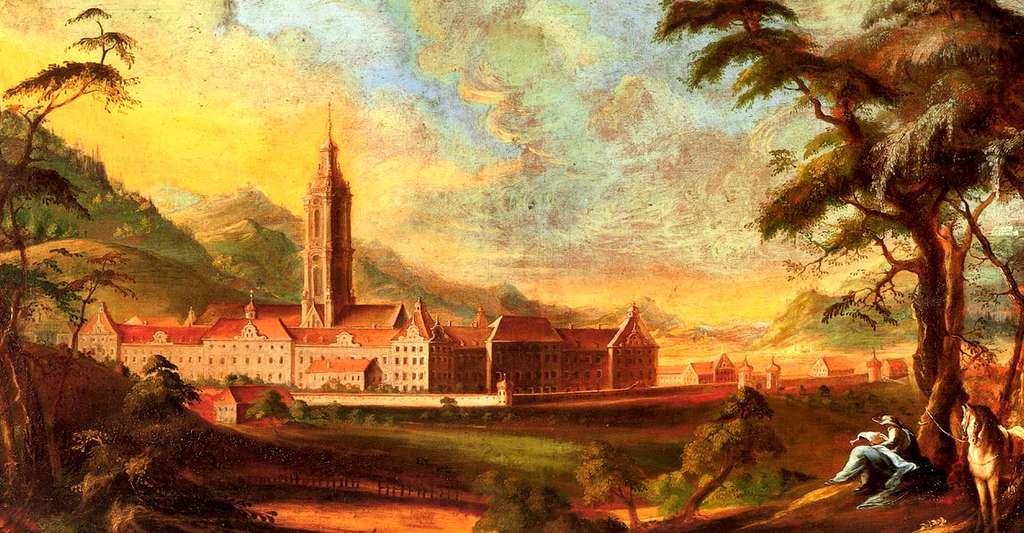 Le Monastère de Salem, tableau d'Andreas Brugger datant de 1765. Gregor von Feinaigle fut moine avant d'enseigner la mnémotechnie. © DP