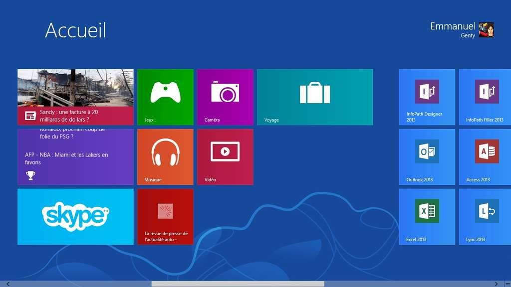 Vous pouvez très facilement « épingler » vos sites favoris sur la page d'accueil de Windows 8 pour y accéder d'un simple clic. © Futura-Sciences