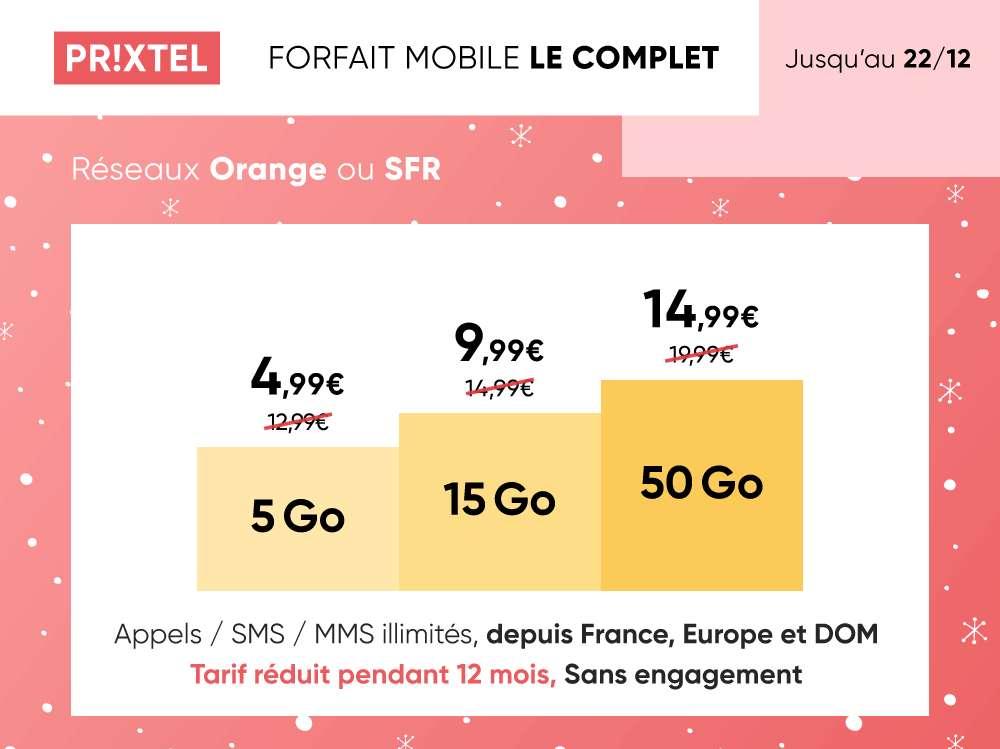 Forfait Ajustable Le Complet en promotion © Prixtel