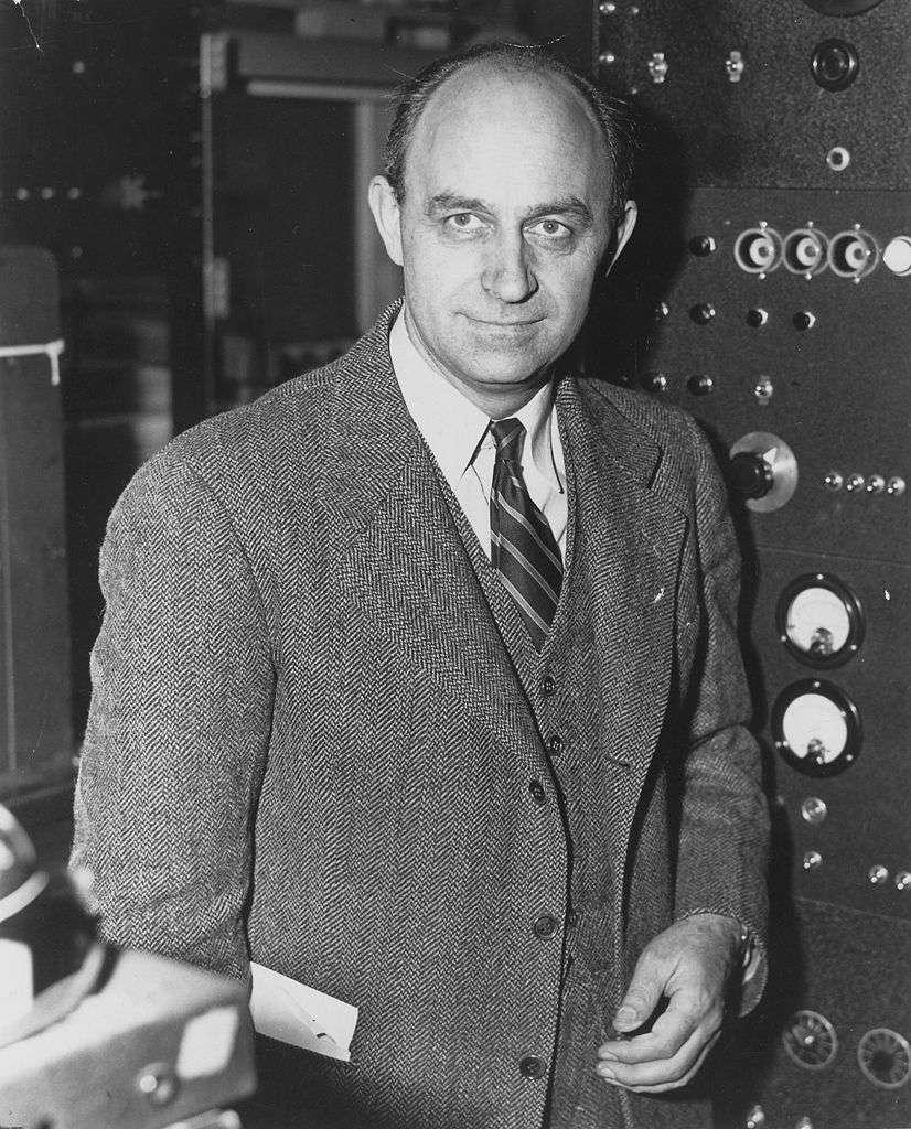 Enrico Fermi dans son laboratoire. © DP