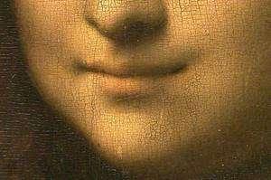 En 1503, il commence son célébrissime portrait de Mona Lisa. Détail de La Joconde. © Léonard de Vinci, domaine public
