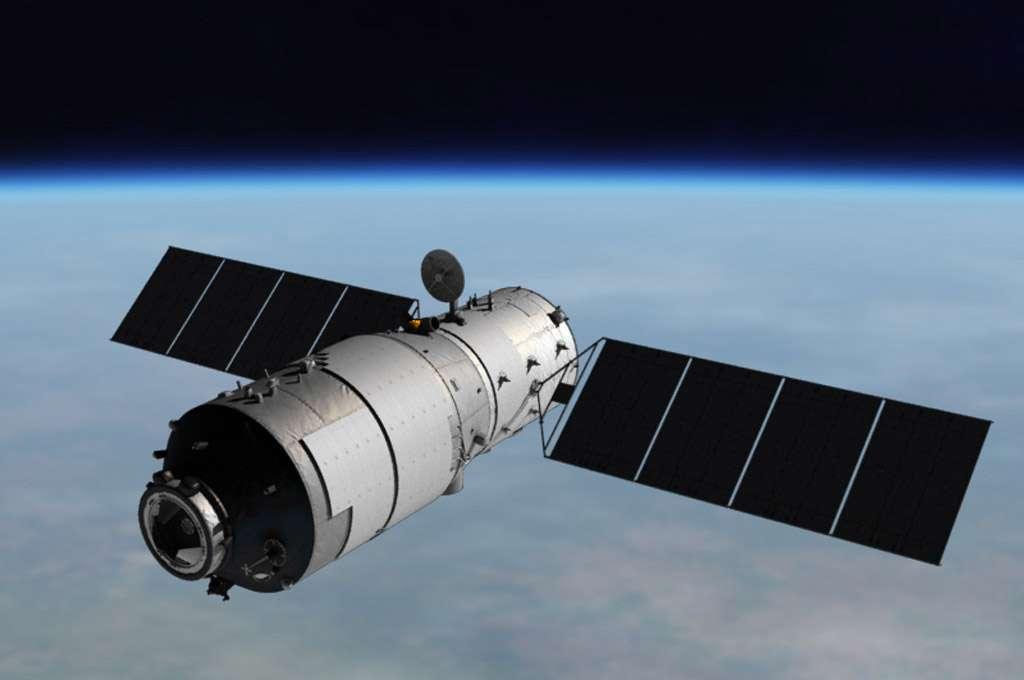 Lancé en septembre 2011, Tiangong 1 est le premier module orbital lancé par la Chine. Lui et Tiangong 2, lancé en septembre 2016, préfigurent les futurs modules de la Station spatiale chinoise prévue à l'horizon 2020. © CNSA