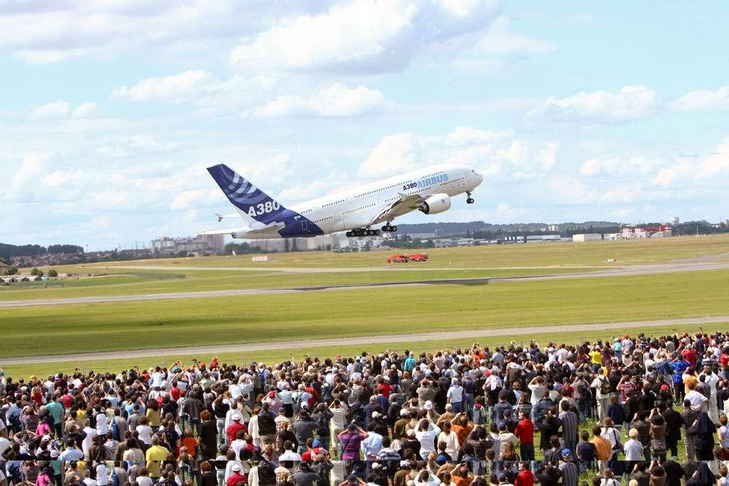 Un Airbus A380 au décollage