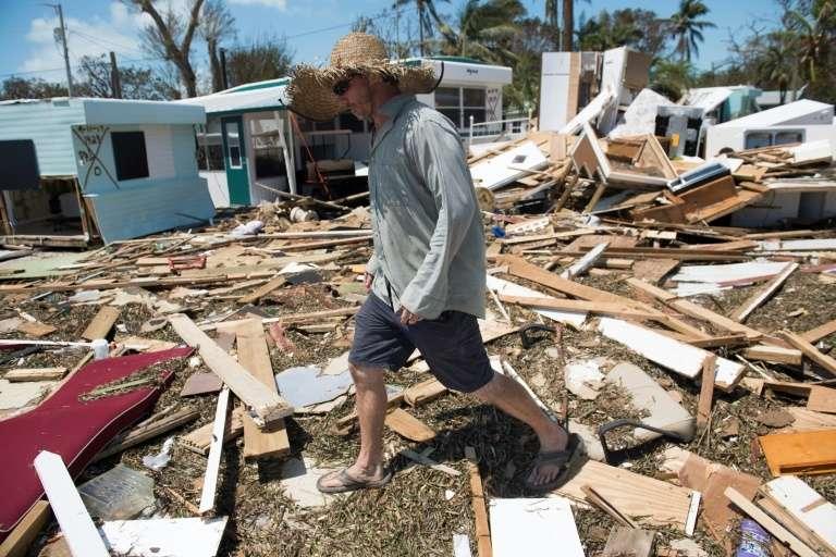 Le 12 septembre 2017, après l'ouragan Irma à Islamorada, en Floride. © Saul Loeb, AFP, Archives