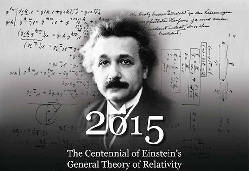 En arrière fond, en haut à gauche, une des théories unitaires proposées par Albert Einstein avec un espace-temps utilisant des nombres complexes comme le fait la physique quantique. On sait que son avis sur la nature de la créativité, concernant la physique théorique et son importance philosophique, était très proche de celui de Pauli comme le prouvent les citations suivantes : « La tâche suprême du physicien est d'arriver à ces lois élémentaires universelles à partir desquelles le cosmos peut être construit par pure déduction. Il n'y a pas de chemin logique vers ces lois ; seule l'intuition, reposant sur une compréhension sympathique de l'expérience, peut les atteindre » et « Une idée en physique théorique… ne surgit pas en dehors et indépendamment de l'expérience ; elle ne peut pas non plus être dérivée de l'expérience par une procédure purement logique. Elle est produite par un acte créatif. Une fois qu'une idée théorique a été acquise, on fait bien de s'y accrocher jusqu'à ce qu'elle aboutisse à une conclusion intenable ». © 2015 American Institute of Physics