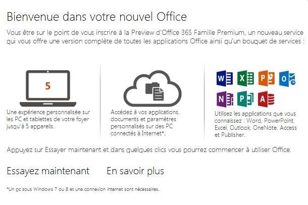 Avec Office 2013, pour profiter pleinement du potentiel du cloud qui s'ouvre désormais aux particuliers, il faut s'inscrire à Office 365 ou avoir un compte Windows Live ID. Changement par rapport aux versions précédentes : pour les options liées au cloud, à chaque fois que l'utilisateur souhaitera utiliser un des logiciels de la suite, il devra s'identifier et son icône d'avatar s'affichera en haut à droite de la fenêtre. © Sylvain Biget, EP
