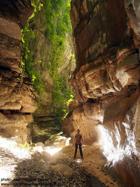 Au fond du canyon, dans la ravine Casse-Cou. © Jean-François Fabriol