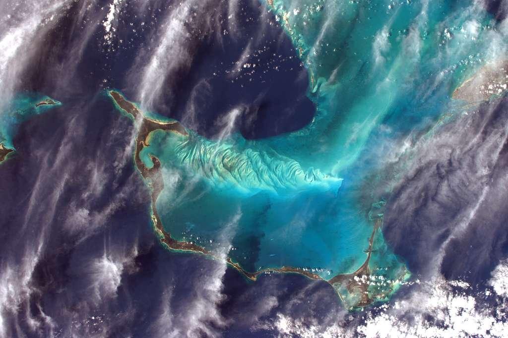Les bleus des Bahamas, photographiés par Thomas Pesquet, en avril 2017 © Esa, Nasa, Thomas Pesquet