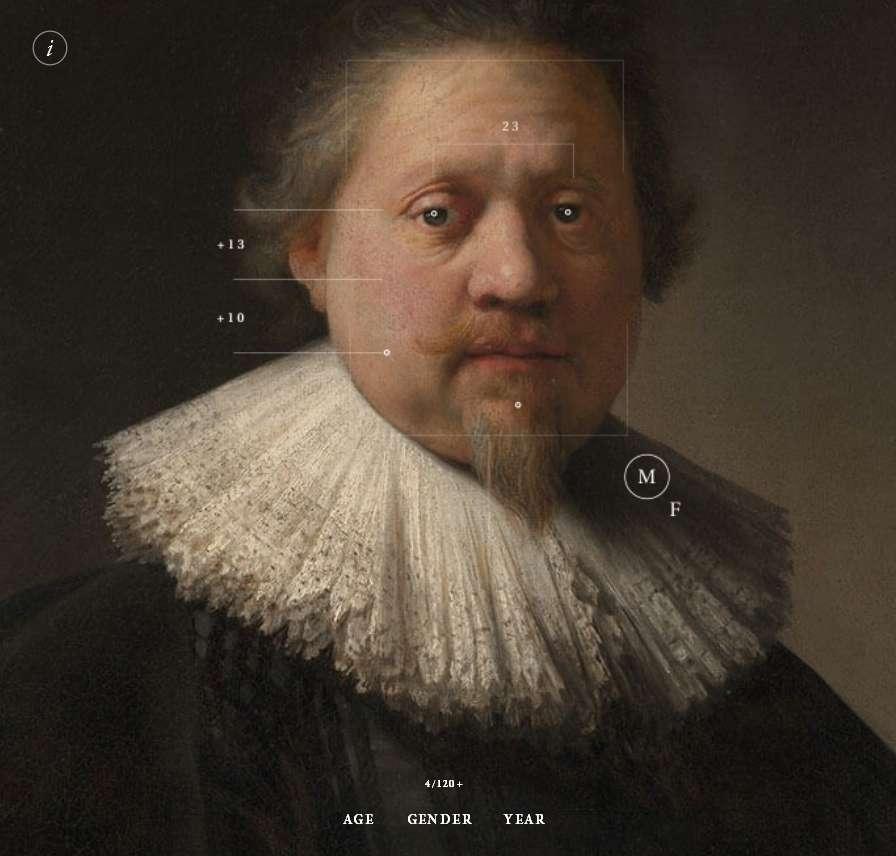 Le Portrait d'un homme debout, peint par Rembrandt, fait partie des œuvres analysées par l'algorithme de deep learning qui a engrangé des milliers de données sur la façon de peindre du maître hollandais. © Projet Next Rembrandt