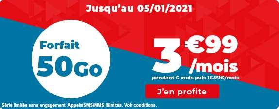 Forfait 50 Go à prix cassé © Auchan Télécom