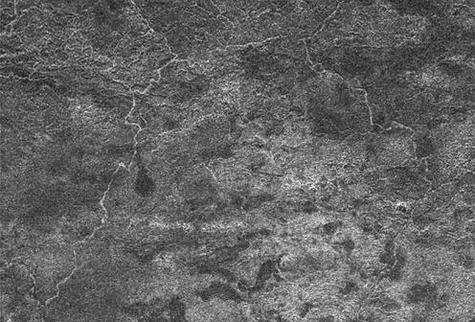 Image d'une partie de la région de Xanadu obtenue grâce au radar de Cassini On y voit un réseau de rivières et de canaux, dans lesquels s'écoule probablement du méthane ou de l'éthane (Crédits : NASA/JPL )