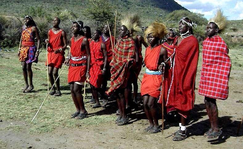 Les Maasaï (à l'image) constituent un peuple semi-nomade et guerrier, doté d'une langue d'origine nilotique. Ils sont très différents des Kamba, agriculteurs parlant une langue bantoue. © Nezumi, Wikipédia, cc by sa 3.0