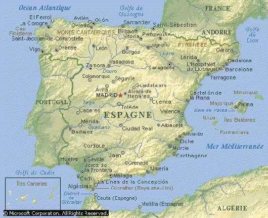 Carte d'Espagne. © DR