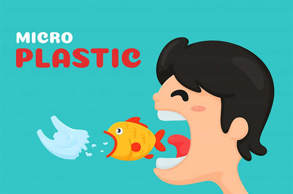 Grâce aux poissons, on a le plaisir de manger le plastique et les polluants qu'on a jetés à la mer ! © Freepik
