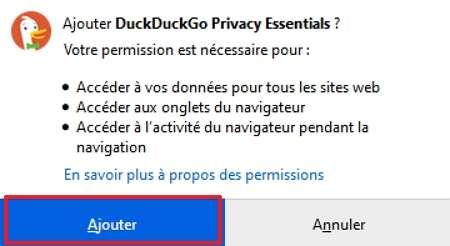 Chaque extension vous demande les autorisations nécessaires à son bon fonctionnement. © Mozilla Foundation