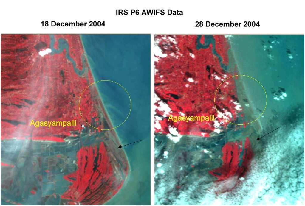 Avant et après le tsunami