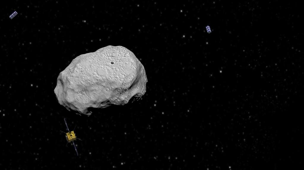L'exploration et la surveillance futures des astéroïdes proches de la Terre pourraient être réalisées par une flottille de CubeSats. © ESA, ScienceOffice.org