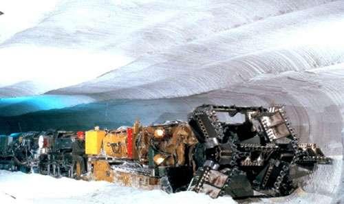 Exploitation actuelle dans une mine de sel