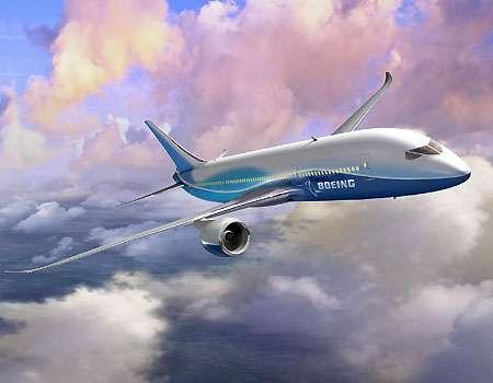 Le 787 Dreamliner, conçu avec des matériaux composites plus légers, pour une diminution de la consommation de carburant. © Boeing