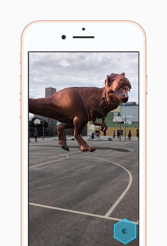 La réalité augmentée grâce à ARKit. © Apple