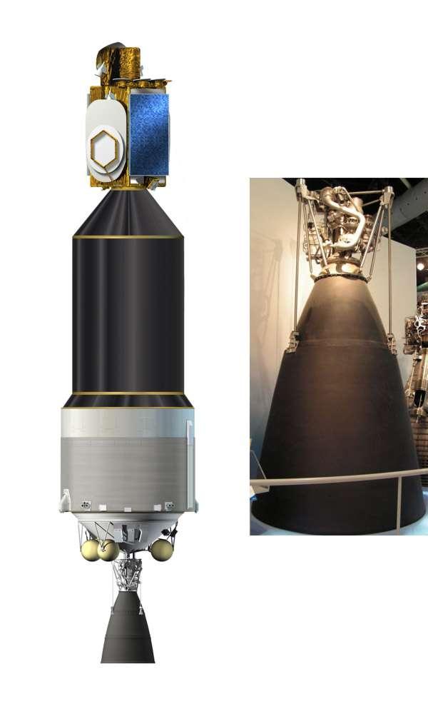 L'étage ECB et son moteur Vinci de l'Ariane 5 ME, une évolution de l'actuelle Ariane 5 ECA. © Esa/R. Decourt