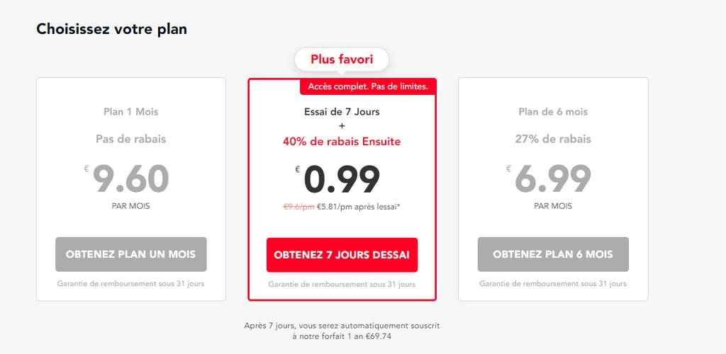 Avec l'abonnement PureVPNd'un an, il est possible de bénéficier de 40% de réduction immédiate.