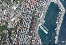 (Cliquer pour agrandir.) Bastia sur Google Earth, version 2009 © Google; IGN