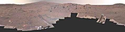 Panorama à 360° du site McMurdo réalisé dans des couleurs aussi proches que possible de la réalité constitué de 1449 prises de vues acquises d'avril à octobre 2006
