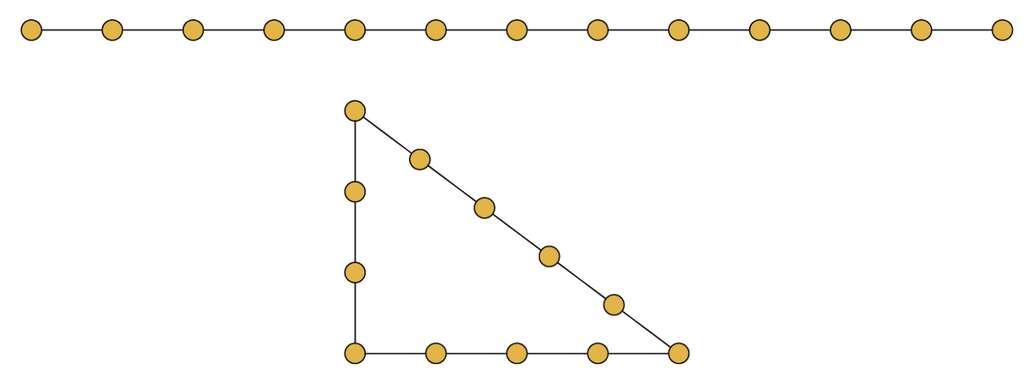 Une corde à treize nœuds peut être pliée et tendue pour former un triangle rectangle. © Hervé Lehning