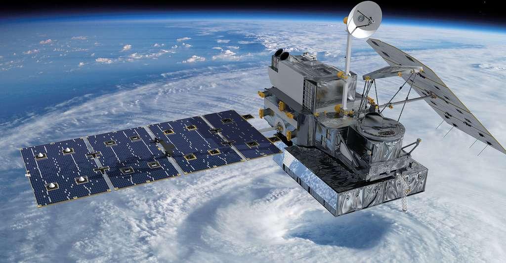 Satellite GPM chargé d'établir les normes pour les mesures de précipitations et d'observer les pluies et chutes de neige dans le monde toutes les trois heures. © Nasa, DP