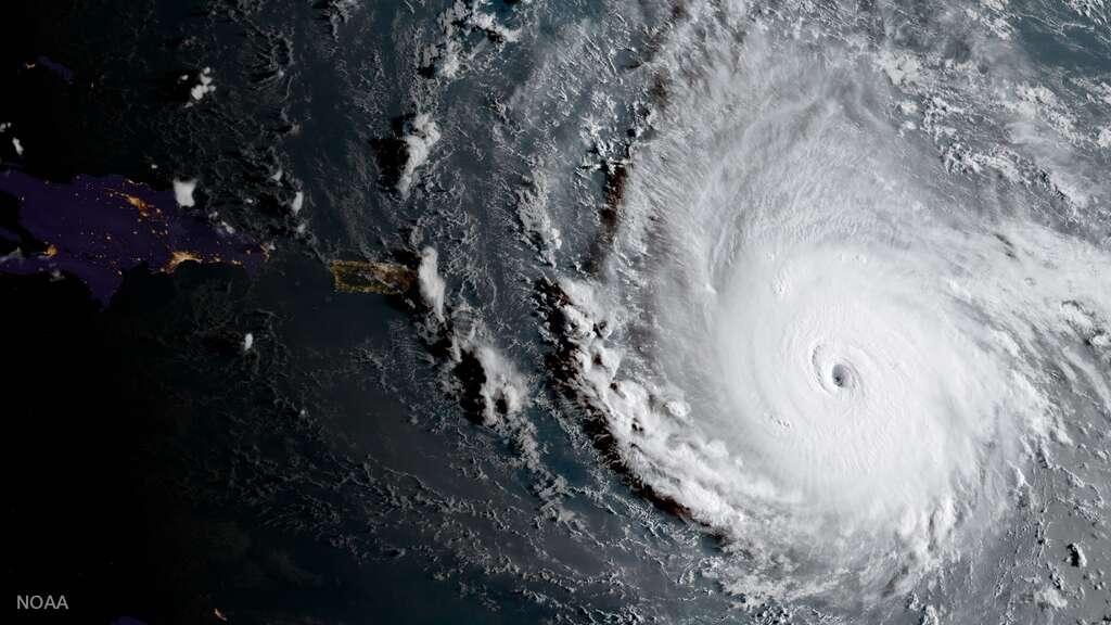 Cyclone, ouragan, typhon : quelles différences ? Ici, l'ouragan Irma vu de l'espace, le 5 septembre 2017. © Nasa