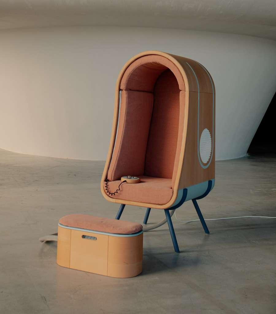 Le fauteuil à étreindre OTO. © Coralie Monnet, James Dyson Award