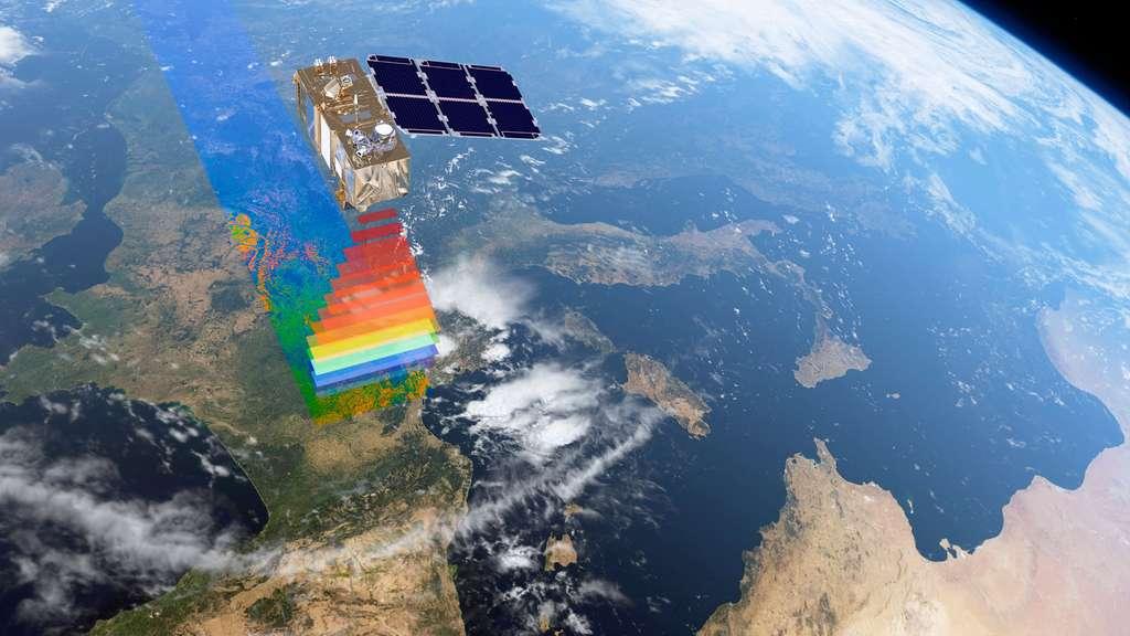 Le satellite Sentinel 2A sera rejoint en orbite en juin 2016 par Sentinel 2B. Ensemble, ils garantiront un temps de revisite de seulement 5 jours. © Esa, Airbus DS