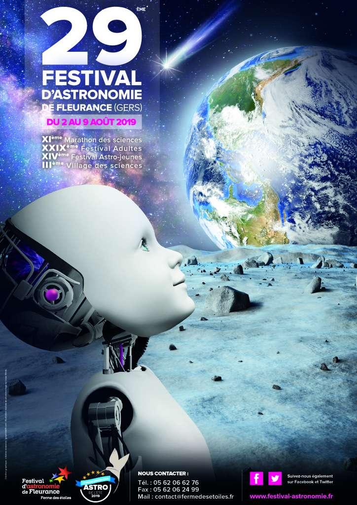 Affiche de la 29e édition du Festival d'astronomie de Fleurance. © Ferme des étoiles, Festival d'astronomie de Fleurance