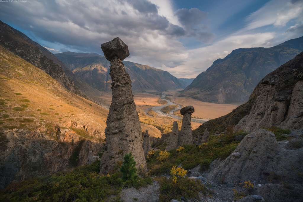 Les rochers-champignons de l'Altaï