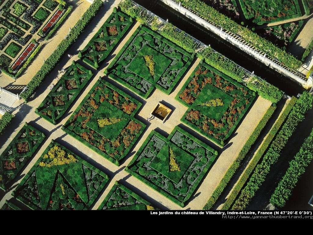 Les jardins du château de Villandry, Indre-et-Loire, France