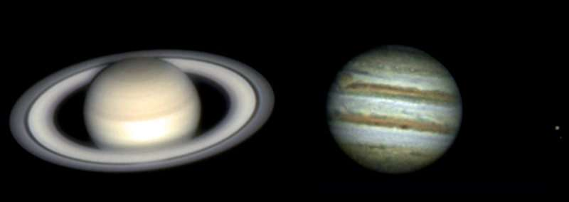 Saturne et Jupiter