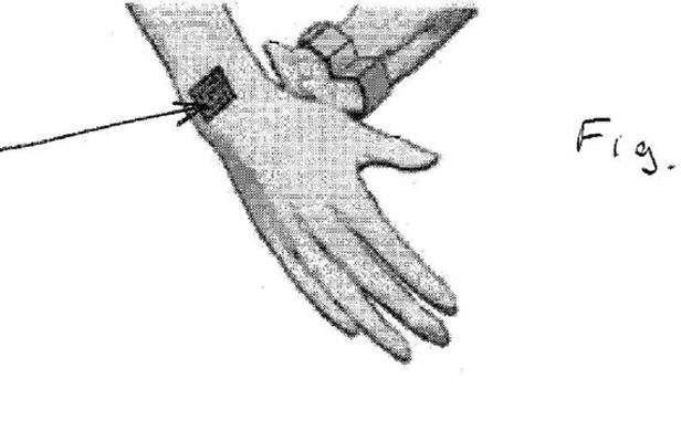 Dans son brevet, Nokia présente également un tatouage constitué d'une encre ferromagnétique pouvant vibrer lorsqu'elle est associée à un téléphone. © Brevet de Nokia