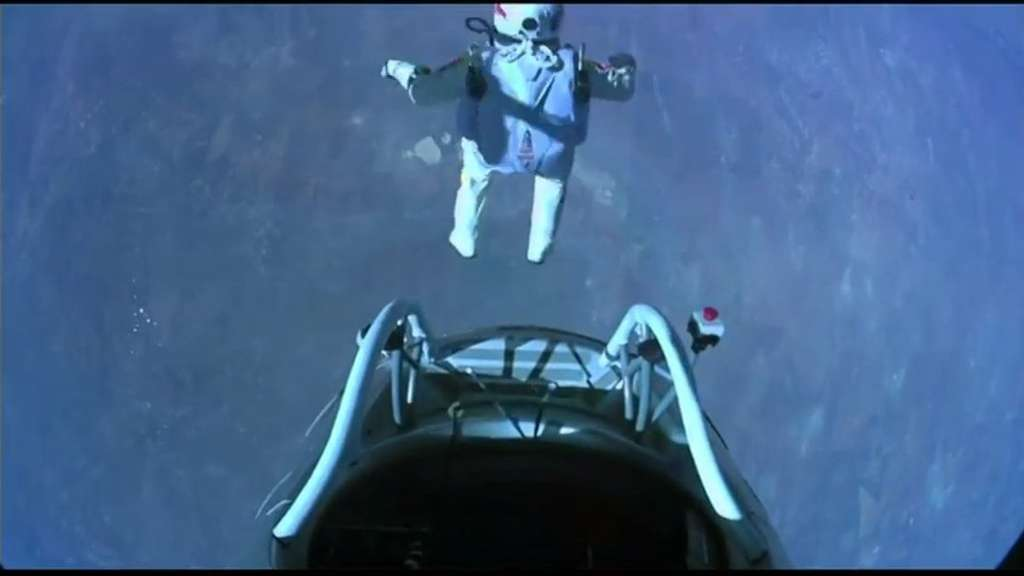 Il a sauté. © Red Bull Stratos