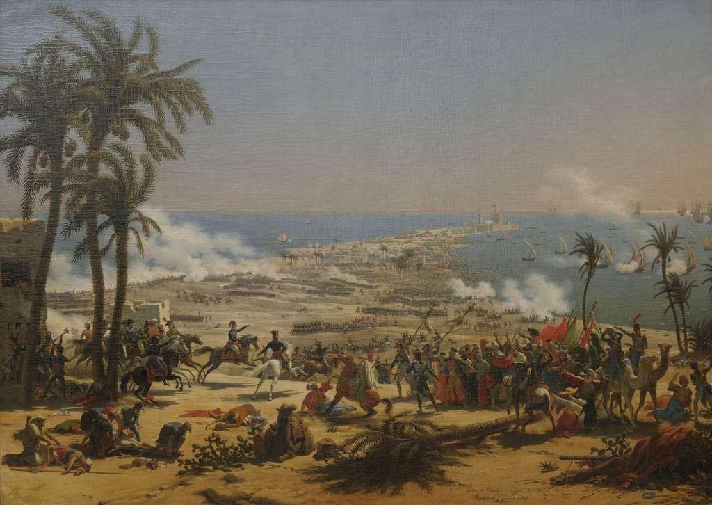 Bataille d'Aboukir, 25/07/1799, par Louis François Lejeune en 1804. Collections du Château de Versailles. © Wikimedia Commons, domaine public.