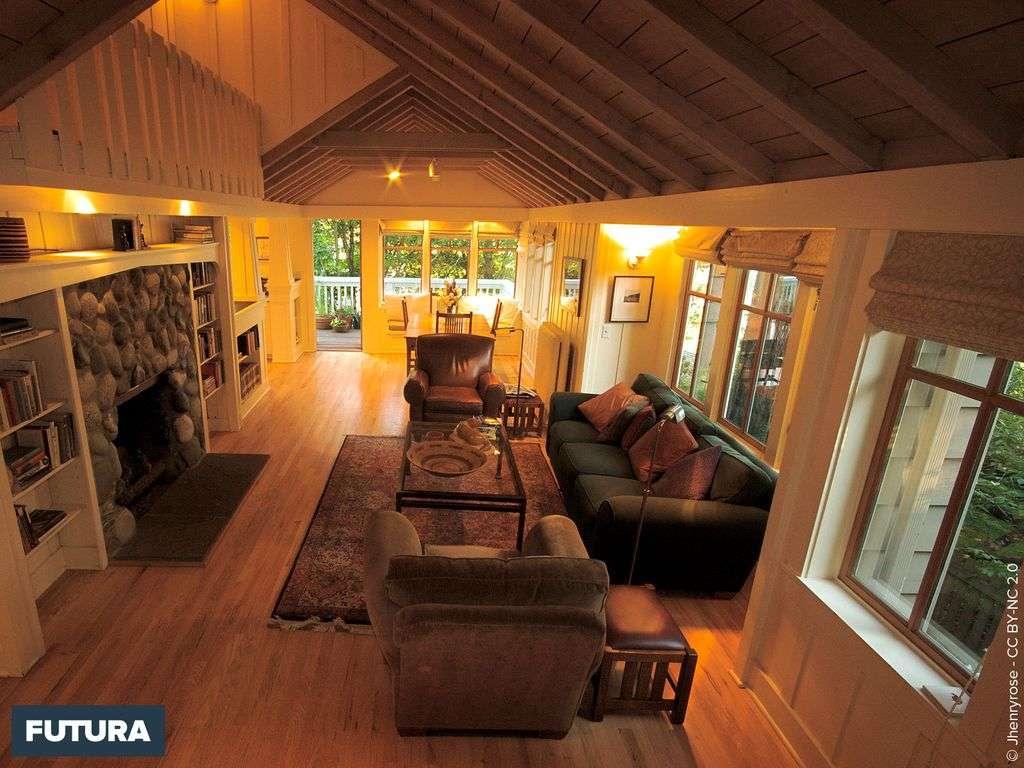 Maison style chalet intérieur bois