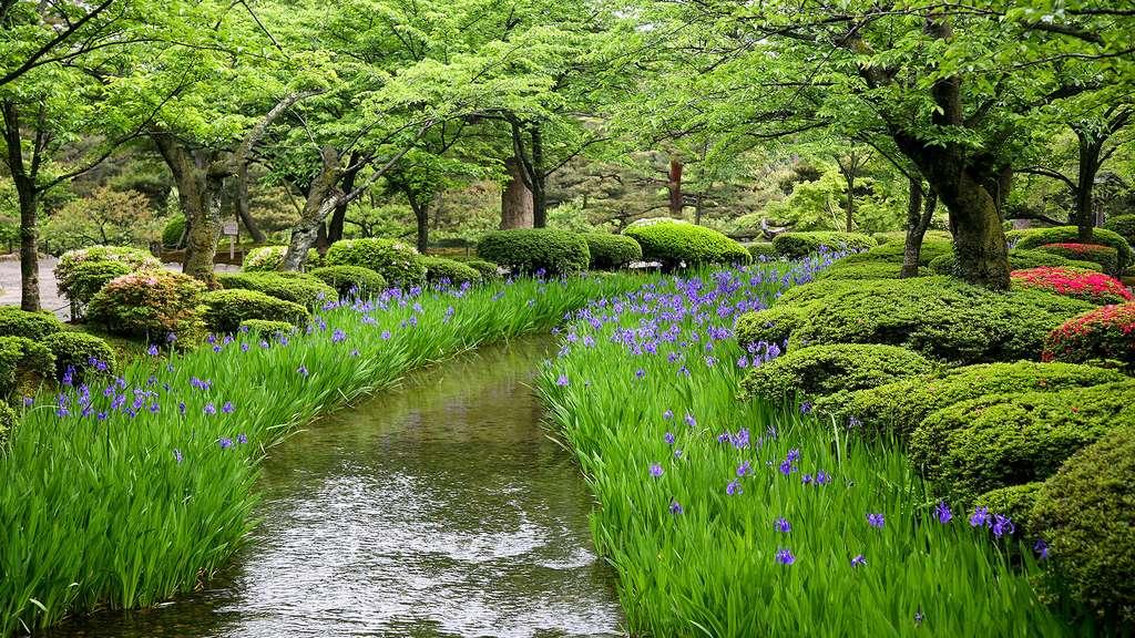 Le jardin japonais Kenroku-en, le « jardin aux six vertus