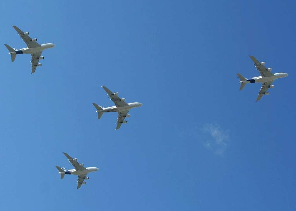 A380 : vol en formation inédit !