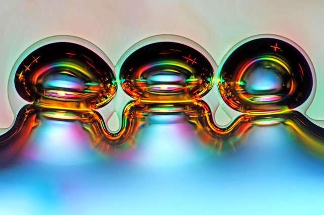 Sur cette photo, des bulles d'air formées par des cristaux de vitamine C. © Marek Mis Photography