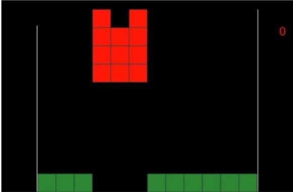 Le jeu Tetris tel que vu à l'écran par les deux joueurs chargés d'émettre les commandes à la troisième personne devant les exécuter. © University of Washington, arXiv