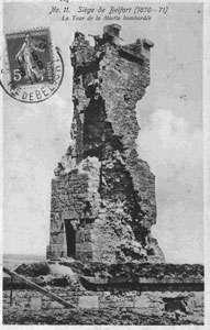 Tour de la miotte bombardée en 1870