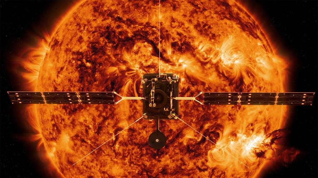 La sonde Solar Orbiter de l'ESA, l'Agence spatiale européenne, à laquelle la Nasa participe en fournissant deux instruments et le lanceur, va partir pour un périple autour du Soleil. © ESA, Nasa