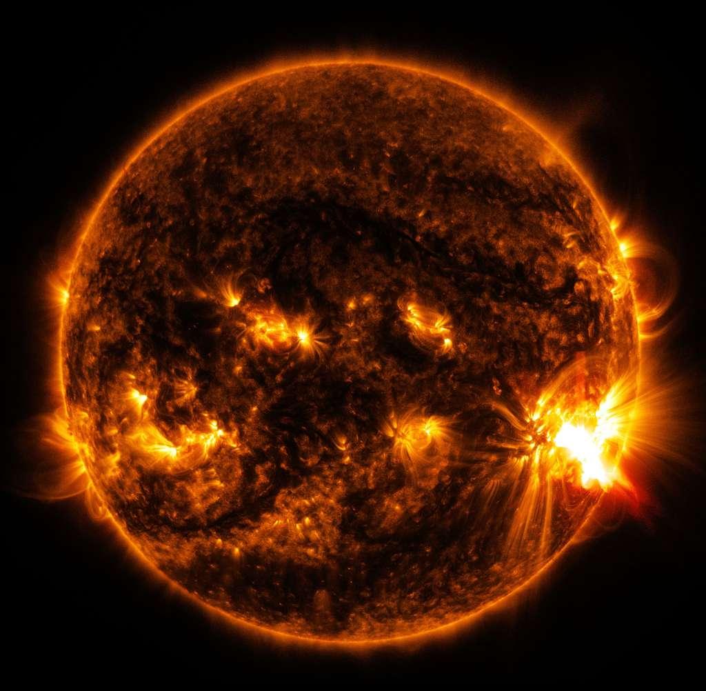 Éruptions solaires. © Nasa/SDO