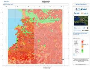 Exemple de carte que permet de réaliser les satellites. Ici une carte de référence produite par Infoterra, qui montre l'état réel des routes. © Infoterra