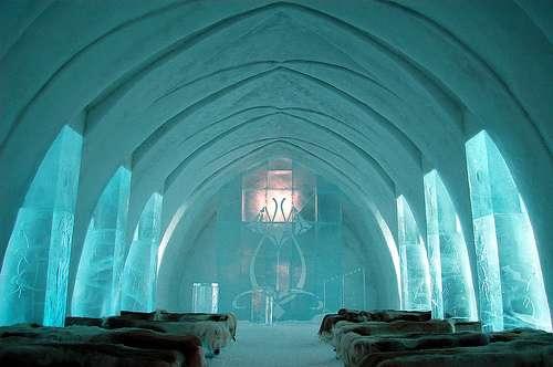 Église de glace pour les mariages